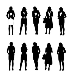 Business woman figure vector