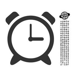 Alarm clock icon with work bonus vector