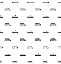 Ambulance car pattern simple style vector image