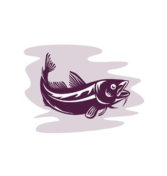 Atlantic codfish retro vector