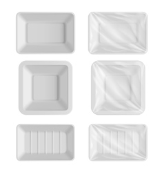Blank packaging template mockup food container vector