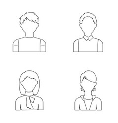 Boy teenager woman with scarf girl avatar set vector