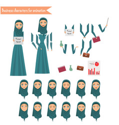 Business woman for animation vector