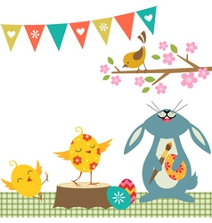 Cheerful Easter vector image