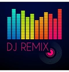 dj remix typography t-shirt graphics vector image vector image
