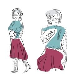 Fashion models sketch vector
