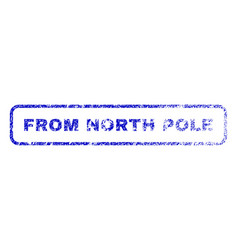From north pole rubber stamp vector