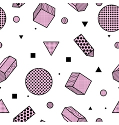 Geometric trendy 80s retro seamless pattern vector image vector image