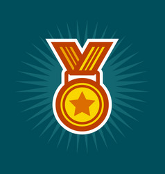 golden medal icon vector image vector image