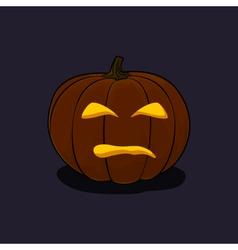 Halloween Evil Pumpkin on Dark Background vector image