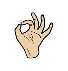Hand ok symbol vector