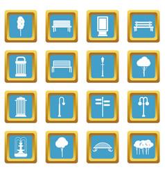 Hangar icons azure vector