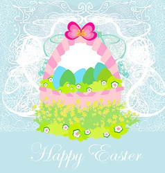 happy easter border vector image