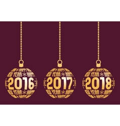 Happy New Year 2016 2017 2018 Elements vector image