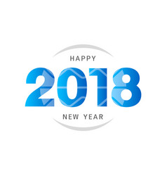 Happy new year 2018 text design design for vector
