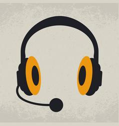 Headphones listen and speak vector