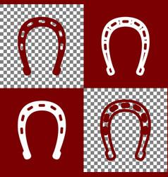 Horseshoe sign bordo and vector