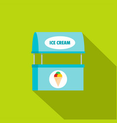 Ice creme selling icon flat style vector