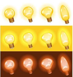 light bulb set vector image