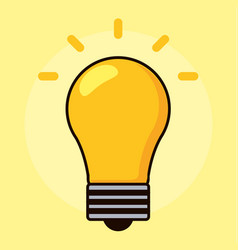 Light bulb yellow energy power icon vector