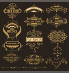 mega set of banners and labels vector image
