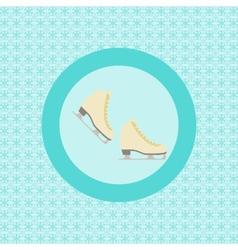Pair ice skating flat icon vector