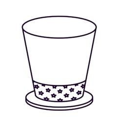 Patriotic hat isolated icon design vector