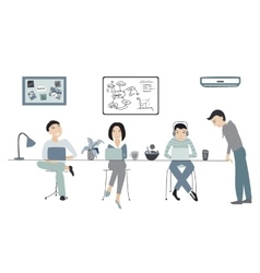 People working in office coworking vector image vector image