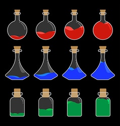 Potion bottle design vector