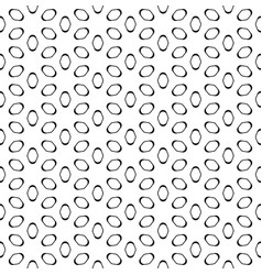 seamless pattern black elliptic figures on white vector image vector image