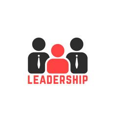 Simple leadership logo like team work vector