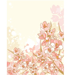spring flowers design vector image