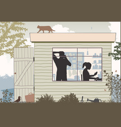 Startup business shed vector