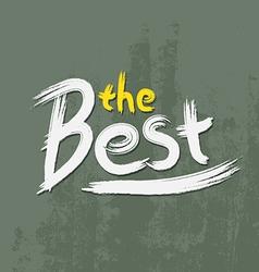 The best font paint vector