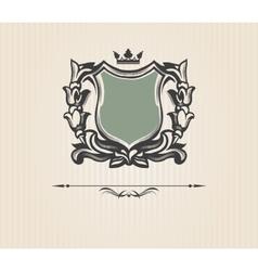 Vintage ornate shield vector image vector image