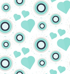 Vintage seamless romantic pattern vector
