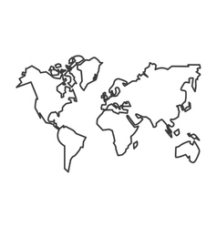 Isolated continents of planet design vector