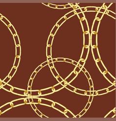 golden chain background vector image