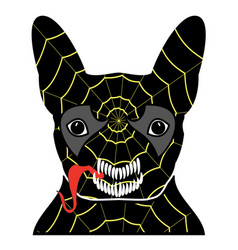 villain symbol in costume with a spider web vector image