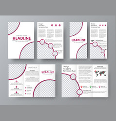 Design a folding brochure front and back of the vector