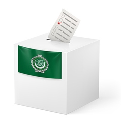 Ballot box with voting paper arab league vector