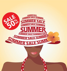Summer sale and flower vector