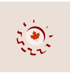 3d cog wheel with canada flag vector