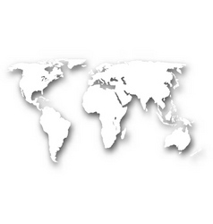White world map vector