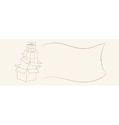 Hand drawn gift boxes sketch suitable for coupons vector