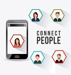 Connect people design vector