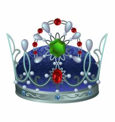 Silver royal crown vector