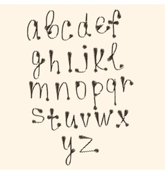 Art sketched stylized alphabet in  black vector