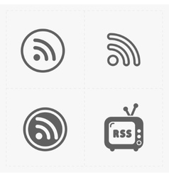 Rss feed symbols on white background vector
