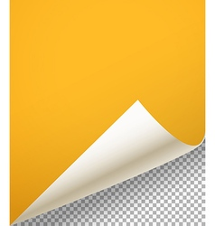Blank paper sheet with bending corner on vector